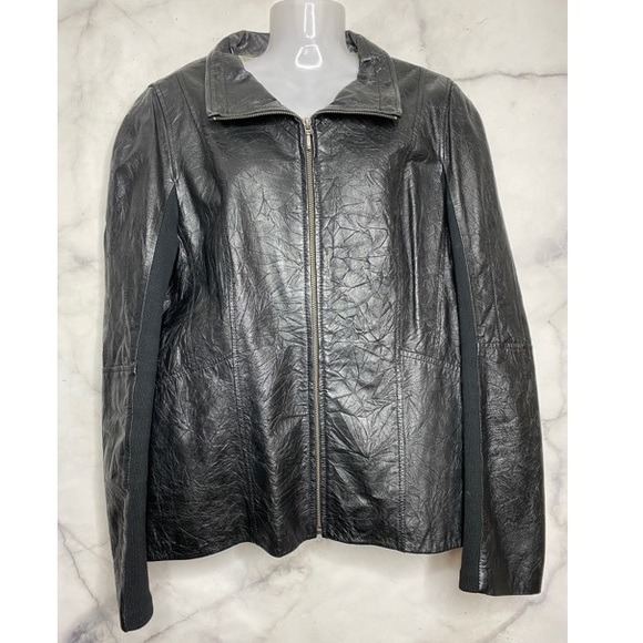 Danier Leather Black Jacket XL Like New